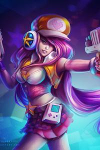 800x1280 Fantasy Girl With Gun