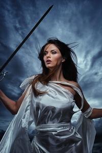 Fantasy Girl With Sword 8k