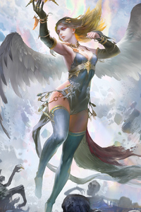 Fantasy Girl With Wings