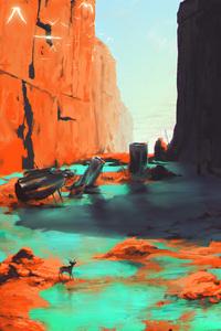 Fantasy Landscape Scenery Raindeer 5k