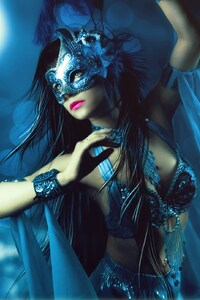 1080x2160 Fantasy Mask Girl