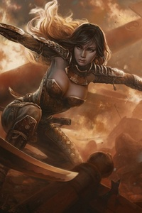 Fantasy Warrior Girl With Sword
