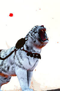 640x960 Far Cry White Tiger Artwork