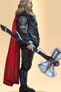 1080x1920 Fat Thor 4k Minimalism