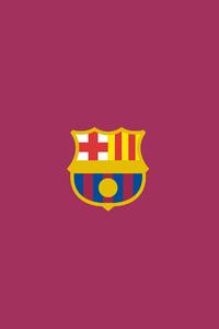 640x960 FC Barcelona Logo Minimalism