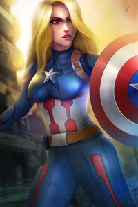 800x1280 Female Captain America