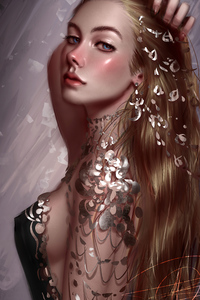 640x1136 Female Portrait Fantasy