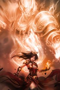 750x1334 Female Warrior Fantasy 4k