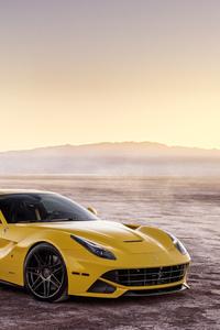 Ferrada Sema Yellow Ferrari F12 Front View