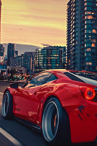 1080x1920 Ferrari 458 City 4k