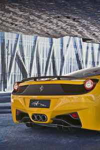 480x800 Ferrari 458 Italia Yellow 2018