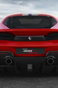 Ferrari 488 Pista Rear View 4k