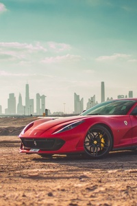 480x800 Ferrari 812 SuperFast 4k