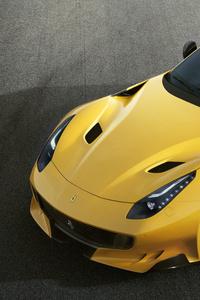 320x480 Ferrari F12tdf Upper View
