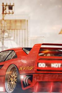 1125x2436 Ferrari F40 Digital Art 4k