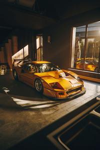 1125x2436 Ferrari F40 Lm 5k