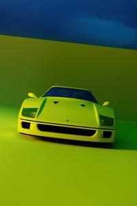 2160x3840 Ferrari F40 Rendered 5k
