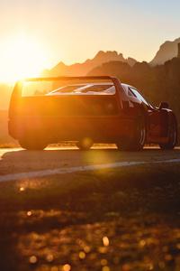 720x1280 Ferrari F40 Silhouette 5k