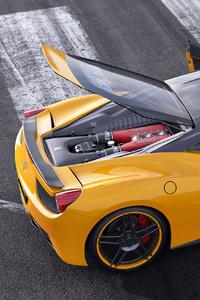 480x800 Ferrari Italia 458 Yellow