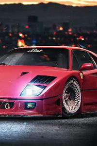 1080x2160 Ferrari Nightrunner F40