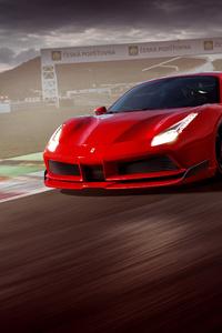 1125x2436 Ferrari On Track