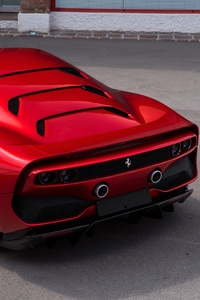 Ferrari SP38 Rear View 4k