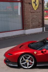 Ferrari SP38 Side View 4k