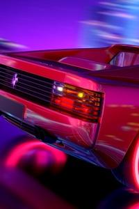 Ferrari Testarossa Retrowave