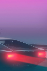 480x854 Ferrari Testarossa Synthwave 4k