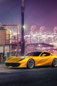 1280x2120 Ferrari Yellow 4k