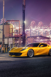 320x568 Ferrari Yellow