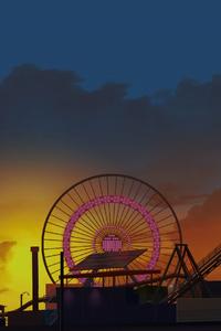 Ferris Wheel Digital Art 4k