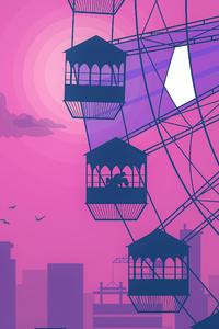 1080x2280 Ferris Wheel Evening Romance 5k