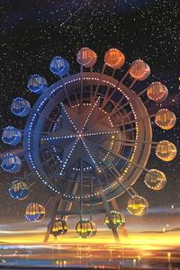 1080x1920 Ferris Wheel Minimal Art 4k
