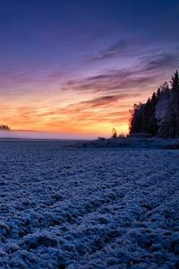 320x480 Field Moody Sunlight Landscape