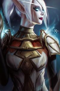 Fiernes Blood Elf Death Knight Illustration 4k