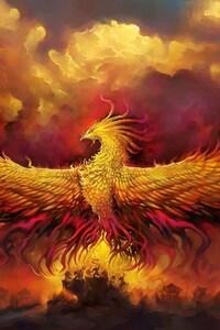 1080x1920 Fiery Phoenix