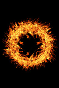 800x1280 Fire Flame Ring 4k
