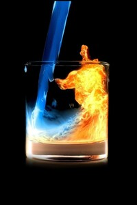 2160x3840 Fire Water In Glass