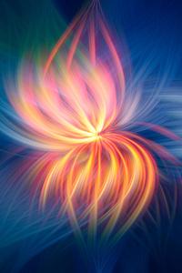 720x1280 Fireflower Abstract 4k 5k