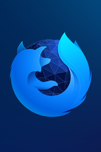 1440x2960 Firefox Logo 8k