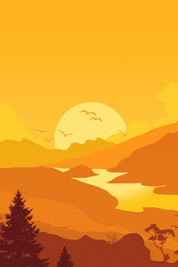 Firewatch Sunrise Minimal 4k