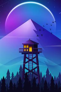 Firewatch Tower Minimalism 4k
