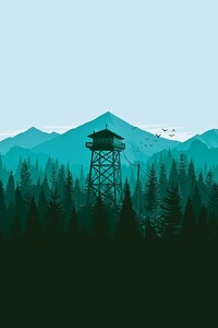 1242x2688 Firewatch Trees