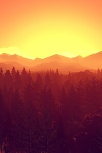 1242x2688 Firewatch Video Games