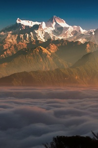 480x800 First Light Of Sun On Mountains