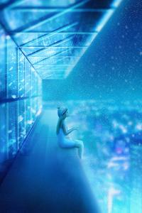 First Snow Landscape Scenery Digital Art 4k