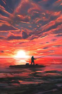 Fishing In Evening 5k
