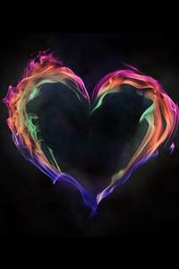 480x854 Flame Artistic Heart Love 5k