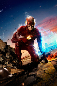 640x960 Flash Barry Allen Tv Series 4k